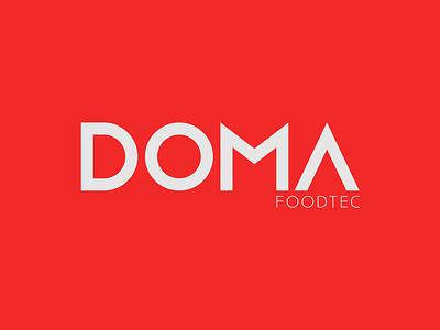 DOMA Food Tec food food processing brandidentity wordmark logo graphic design branding