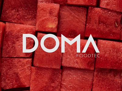 Doma Food Tec brand food food processing brandidentity wordmark logo graphic design branding