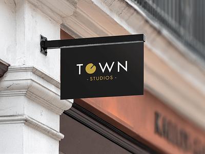 Town Studios mastering studio music brand brandidentity wordmark logo graphic design branding