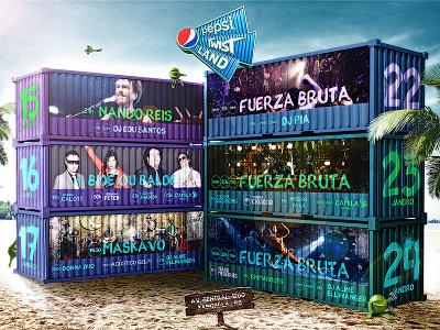 Poster criado para o Pepsi Twist Land 2016 psd photomanipulation photocomposition ads festivalmusic socialmedia livemarketing poster