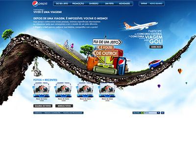 PEPSI . Proposta Concurso Cultural Pepsi+Gol pepsi gol road trip airplane car cycle composition manipulation