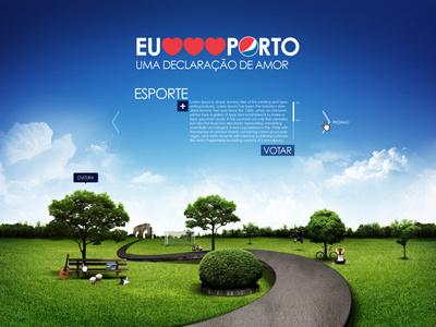 Pepsi . Proposta Eu Amo Porto pepsi park drink sky composition manipulation