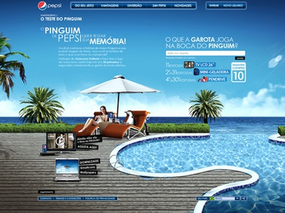 Pepsi . Proposta Concurso Cultural Pinguim pepsi penguin club swimming pool