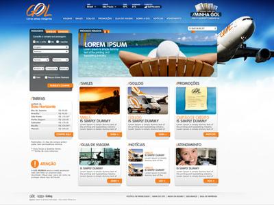 GOL . Proposta site 2010 gol airplane website ecommerce trip