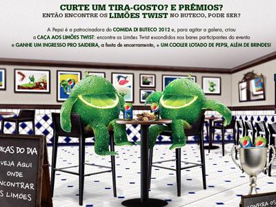 Comida di buteco 2012 . Brazil lemon pepsi pub drink food brazi art director fun