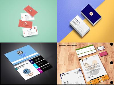 BUSINESS CARD AND STATIONARY DESIGN vector typography design illustration branding logo graphic design