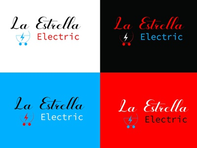 La Estrella Electric logo branding electricbrandinglogo designer logologo designbranding