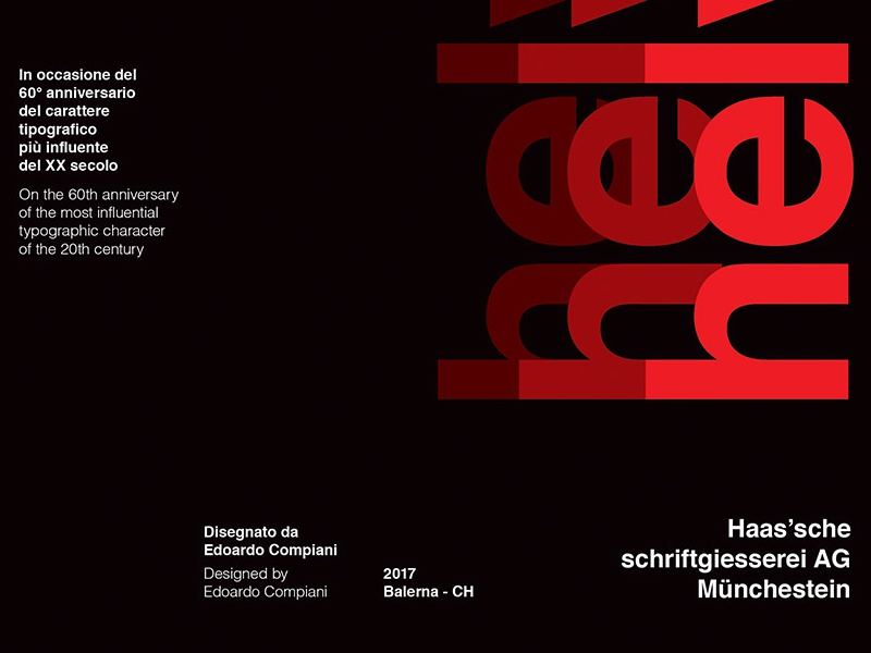 60th Anniversary Helvetica Poster By Edoardo Compiani
