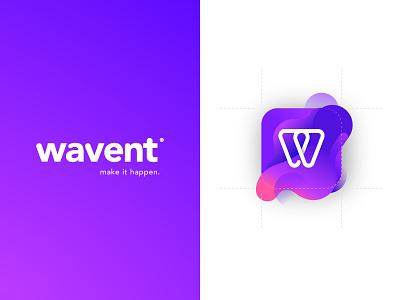 Wavent App | Make it happen wave purple logo design w event app waventapp wavent