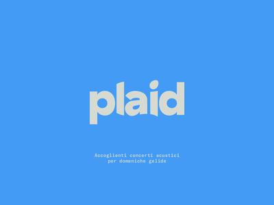 Plaid New logo