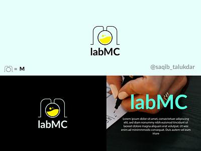 LabMC Logo minimal logo lab logo logo letter logo illustration icon graphic design design branding brand identity
