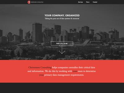 Landing Page website web design home landing ui dark minimal landing page clean