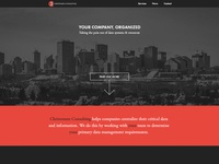 Landing Page website web design home landing ui dark minimal landing page clean