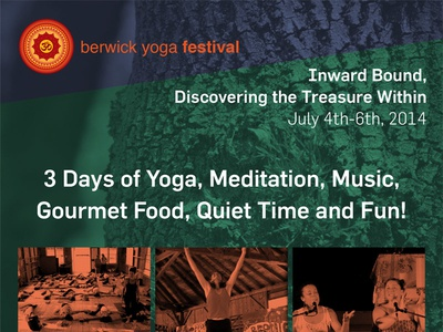 Berwick Yoga Festival Poster poster yoga print