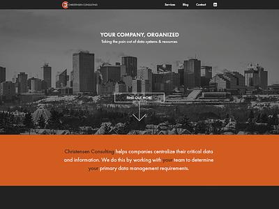 Christensen Consulting Home Page Shot minimal clean dark home landing ui website landing page web design