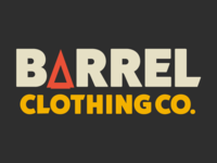 Barrel Clothing Co Logo lifestyle wordmark logotype identity branding typography visual identity brand colour guide logo