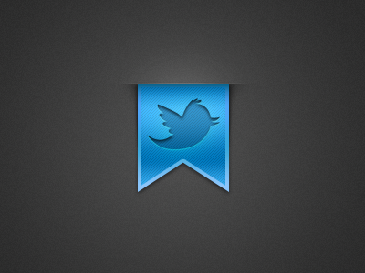 Twitter icon ribbon