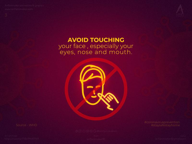 Coronavirus prevention- poster #3 Avoid_touching_faces