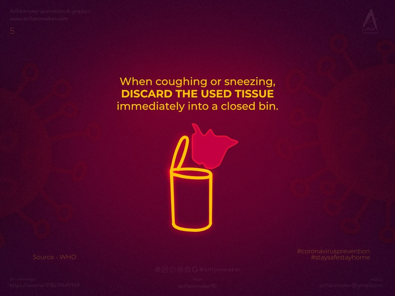 Coronavirus prevention- poster #5 discard_tissues