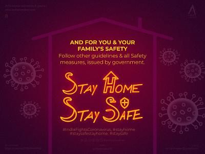 Coronavirus prevention- poster #8 Stay Home, Stay Safe life shutdown lockdown safety cover artwork coronavirus prevention prevention pandemic coronavirus stay safe stay home