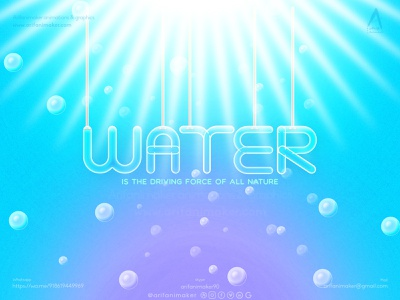 Water text effect watercolor drops water photoshop affinity designer text design text effect pipeline pipes underwater water text