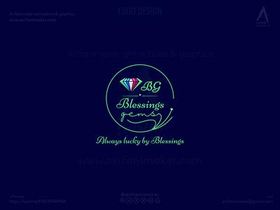 Logo Design - Blessings Gems gemstone logo gemstones creative logo design custom logo design newlogodesign gemstone blessings logo design