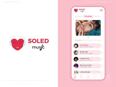 Souled Music - Logo & App UI Design