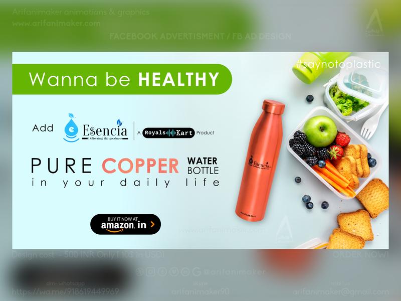 Healthy Copper Bottle - Facebook Ad