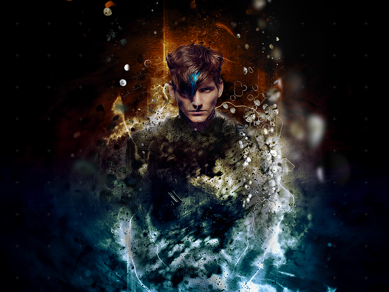 A New Threat blue psychic retouch photoshop design art