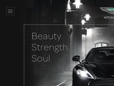 Website Concept sleek concept automotive web design