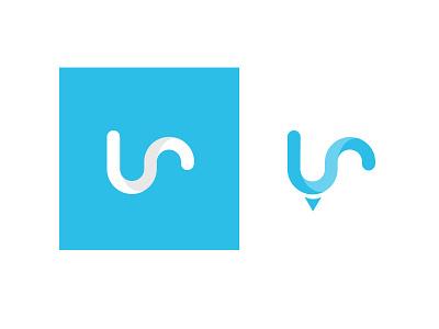 UrPosse Logo app blue design branding identity logo