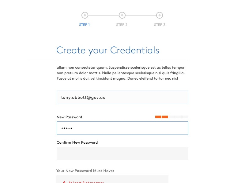 A step in your registration clean design forms user experience ux design