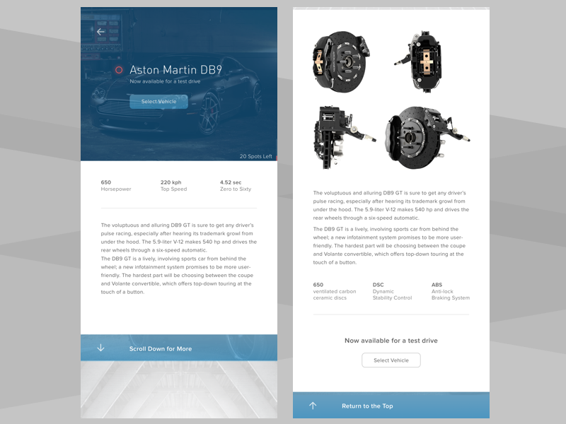 Select and Drive ux design drive app auto