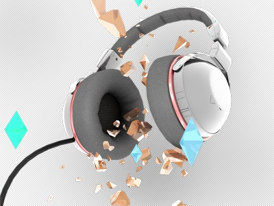 Fragment your Ears headphones 3d slick edgy rocking design