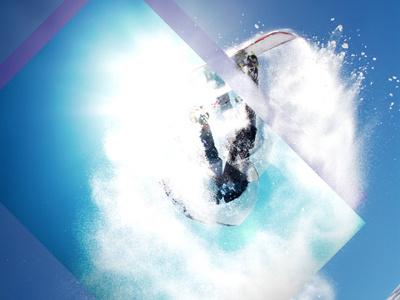 Wild One photoshop design ui sports effects snowboarding x games