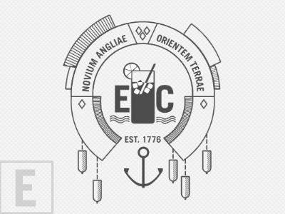 New England Represent design logo mark buoy anchor symbol ui new england ice tea east coast