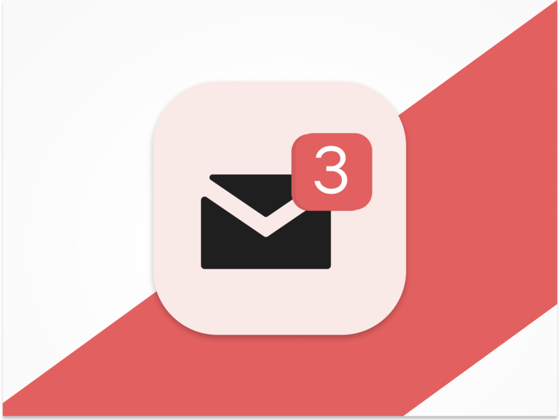 3 Dribbble Invites email message invites notification design