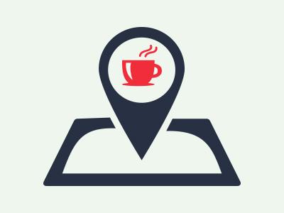 Coffee Place Finder Logo app illustrator coffee branding logo