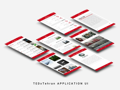 TEDxTehran 2017 Application UI app mobile design graphic ios sketch ux ui tedxtehran tedx ted