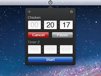 Timer App UI timer mac ui retina hidpi menu bar