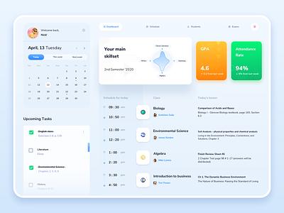 Educational Platform web ui design