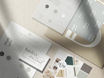 Barefoot Material Brand | Interior Design and Renovations feminine branding minimalist brand minimalist logo renovation company logo interior design branding interior design logos branding design interior design logo
