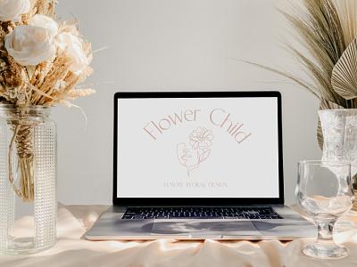 Luxury Floral Design Branding branding design hand drawn illustration hand drawn logos florist logo branding and logo design