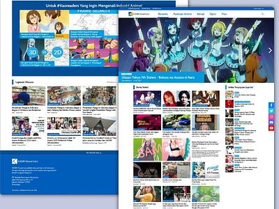 KAORI Nusantara - Anime News Website Redesign Concept online news news website web design