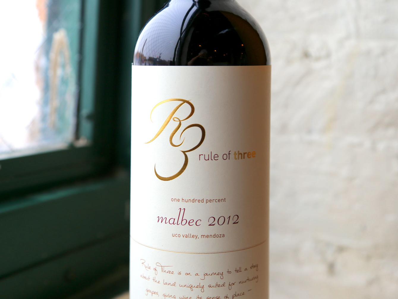 Rule of Three Wine wine label wine print design logo design packaging design