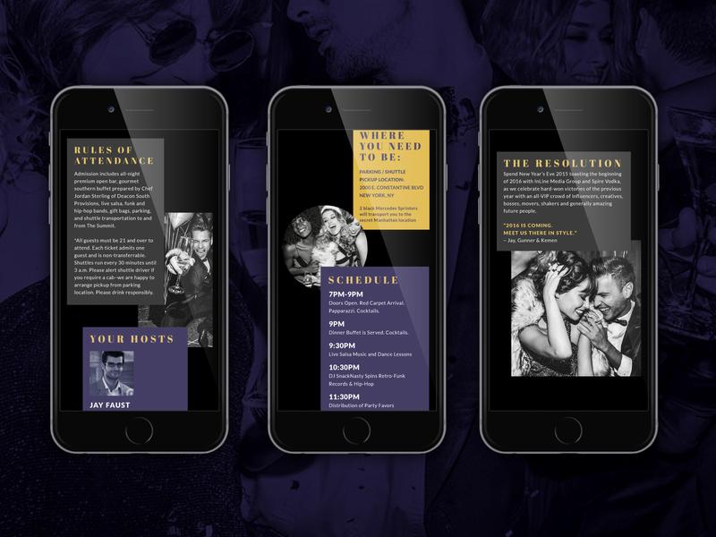 New Year's Eve Event Website Tempate event website ui ui design interaction design website