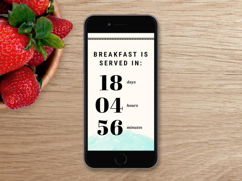 SXSW Breakfast Event Template web design user interface ui website design mobile