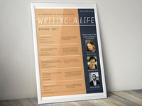 Writing a Life: Speaker Series Poster