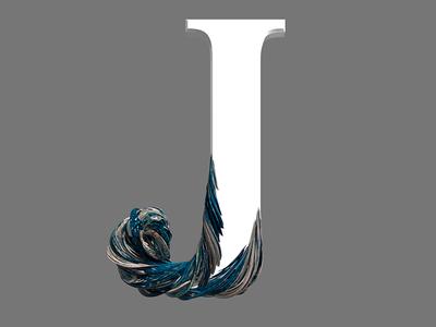 J illustration design animation logo pixel cinema4d 3d
