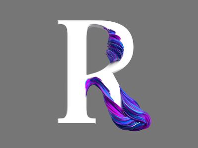 R type illustration design cinema4d 3d
